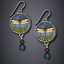 Dragonfly Earrings by Dawn Estrin (Silver Earrings)