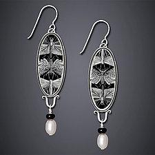 Etymology Earrings by Dawn Estrin (Silver & Pearl Earrings)
