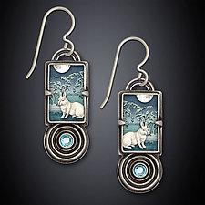 Winter Rabbit Earrings by Dawn Estrin (Silver & Stone Earrings)