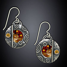 Autumn Earrings by Dawn Estrin (Silver & Stone Earrings)