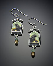 Nevermore Earrings by Dawn Estrin (Silver Earrings)