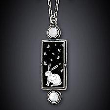 Winter Night by Dawn Estrin (Silver & Pearl Necklace)
