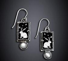 Winter Night Earrings by Dawn Estrin (Silver & Pearl Earrings)