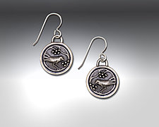 Snow Berry Earrings II by Dawn Estrin (Pewter Earrings)