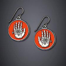 Eye Hand Heart Earrings by Dawn Estrin (Silver Earrings)
