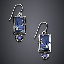 White Midnight Earrings by Dawn Estrin (Silver & Stone Earrings)