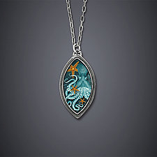20,000 Leagues Under the Sea Necklace by Dawn Estrin (Silver Necklace)