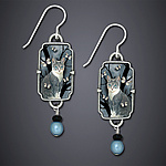 Neko Earrings by Dawn Estrin (Silver Earrings)