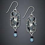 Neko Earrings by Dawn Estrin (Silver Earrings)