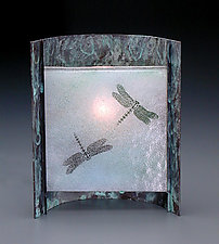 Blue Dragonfly Lamp by Joan Bazaz (Art Glass Lamp)