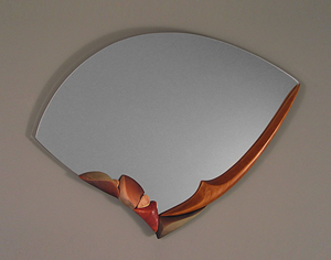 Water Song: Jan Jacque: Ceramic & Wood Mirror - Artful Home :  mirror decoration ceramic decor