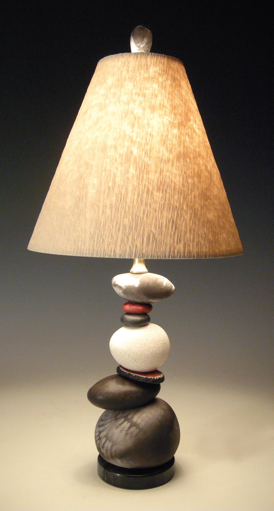 Shadow And Light By Jan Jacque Ceramic Table Lamp