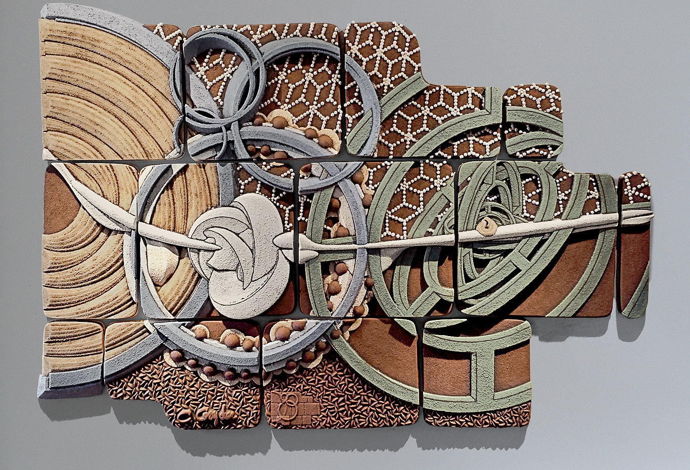 Equisymbrium no 2 by christopher gryder ceramic wall for Bronze wall art
