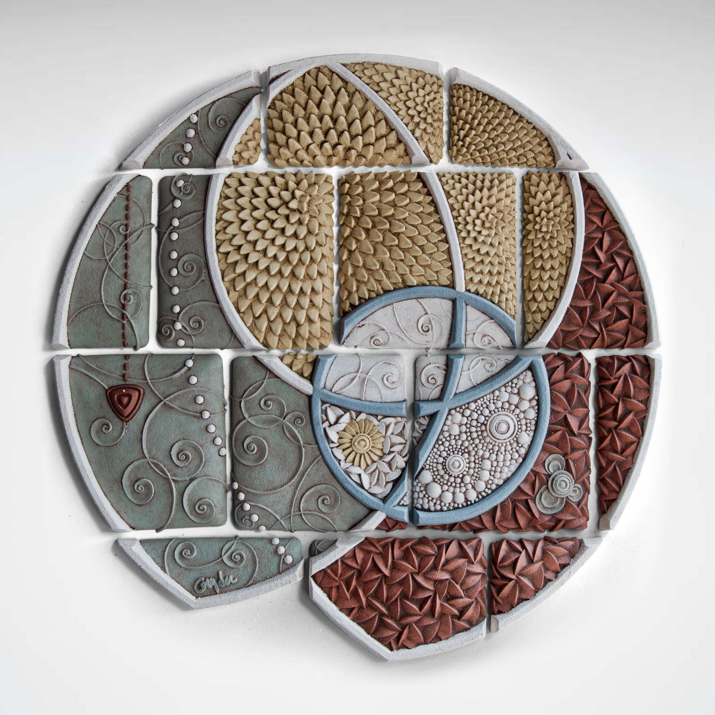 Arc By Christopher Gryder Ceramic Wall Sculpture