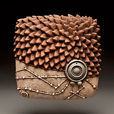 Edge Burst by Christopher Gryder (Ceramic Wall Sculpture)
