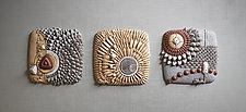 Centripetal Triptych by Christopher Gryder (Ceramic Wall Sculpture)