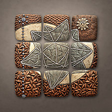 Polyhedron Play by Christopher Gryder (Ceramic Wall Sculpture)