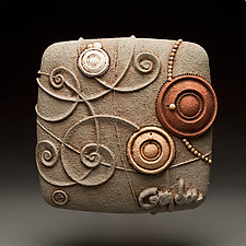 Frolic by Christopher Gryder (Ceramic Wall Sculpture)