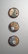 Zephyr Triptych by Christopher Gryder (Ceramic Sculpture)