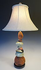 Medium Terra Cairn Lamp by Jan Jacque (Ceramic Lamp)