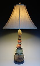 Large Terra Cairn Lamp by Jan Jacque (Ceramic Lamp)