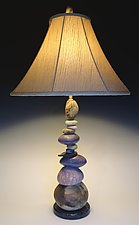 Large Cool Earth Cairn Lamp by Jan Jacque (Ceramic Lamp)