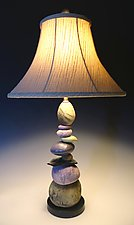 Cool Earth Cairn Lamp by Jan Jacque (Ceramic Lamp)