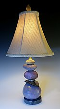 Cool Earth Cairn Lamp by Jan Jacque (Ceramic Table Lamp)