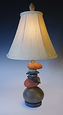 Small Terra Cairn Lamp by Jan Jacque (Ceramic Table Lamp)