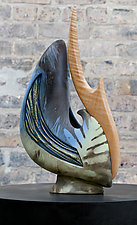 Hang 10 by Jan Jacque (Ceramic Sculpture)