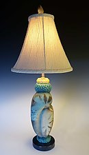 Champagne by Jan Jacque (Ceramic & Wood Table Lamp)