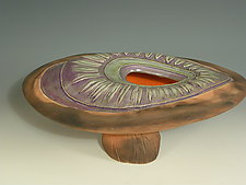 Rainforest Mushroom by Jan Jacque (Ceramic Sculpture)