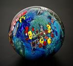 Inhabited Megaplanet, 5.25 inch by Josh Simpson (Art Glass Sculpture)