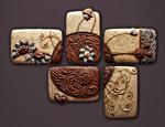 Penta-Pinwheel by Christopher Gryder (Ceramic Wall Sculpture)