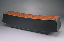 Long Bench by Isaac Arms (Steel & Wood Bench)