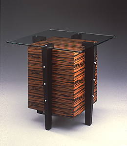 Cube Side Table: David Kiernan: Wooden End Table - Artful Home :  cube art home furniture