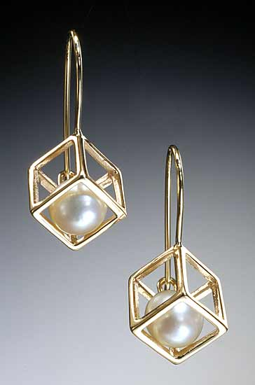 Cage Cubed Earrings