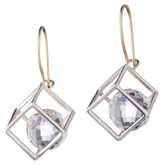 Large Cage Cubed earring