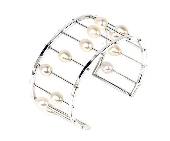 Abacus Cuff in Sterling Silver
