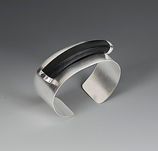 Strength Cuff by Lonna Keller (Silver & Leather Cuff)
