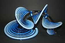 Color Fade Heechee Probes by Thomas Kelly (Art Glass Sculpture)