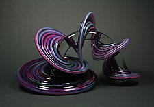 Purple and Blue Mix Heechee Probe by Thomas Kelly (Art Glass Sculpture)