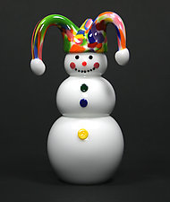 Jester Snowman by Thomas Kelly (Art Glass Paperweight)