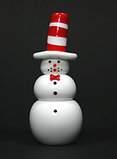Seuss Snowman by Thomas Kelly (Art Glass Paperweight)