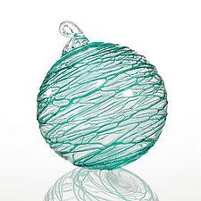 Serpentine Sea by Thomas Kelly (Art Glass Ornament)