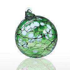 Jade Blossom by Thomas Kelly (Art Glass Ornament)