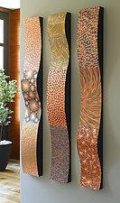 Copper Wall Ribbons by Linda Leviton (Metal Wall Sculpture)