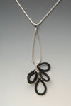 Shag Pendant by Lonna Keller (Silver & Neoprene Necklace)