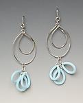 Lightness Earrings by Lonna Keller (Silver & Neoprene Earrings)
