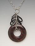 Jasper Necklace by Lonna Keller (Silver, Stone, & Neoprene Necklace)